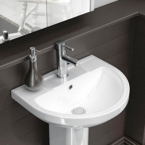 Harmony 500mm Basin & Semi Pedestal - 1 Tap Hole